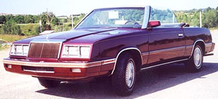 Le Baron Convertible 1984 (France)